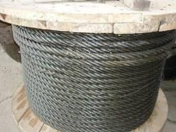 Трос (канат) стальной 30, 5 мм (структура 6х19)