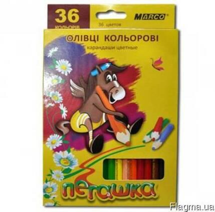 Карандаши цветные Marco Пегашка 36 цветов