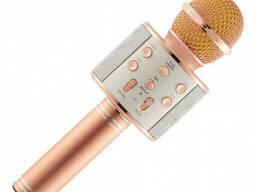 Караоке-микрофон портативный Wster WS-858, розово-золотой