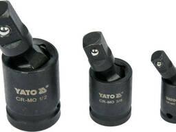 """Кардани ударні YATO квадрати- 1/2"""" 3/8"""" 1/4"""" 3 шт"""