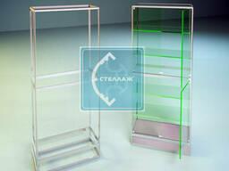 Каркас витрины из алюминия (с нижним фризом, разделение на 2