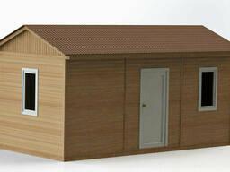 Каркасно-щитовой деревянный дом 6х3 м.