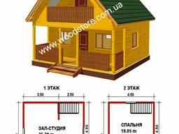 Каркасный дом. Домик деревянный летний садовый