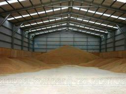 Каркасные ангары для хранения зерновых