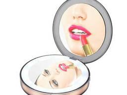Карманное зеркало для макияжа с Led подсветкой CM2. ..