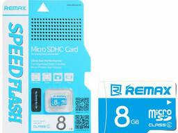 Карта памяти Remax Micro SD C6, Chip: Samsung, 8G, 0. 5V, 7. 34/21. 3MByte/s, class6, Blue