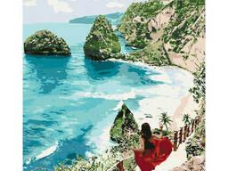 """Картина по номерам """"Бриллиантовый пляж"""" 40*50см KHO4734"""