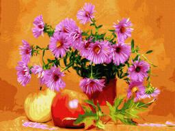 "Картина по номерам. Rainbow Art ""Астры и яблоки"" GX34575-RA"