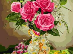 "Картина по номерам. Rainbow Art ""Розы и виноград"" GX8256-RA"
