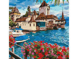 """Картина по номерам. """"Волшебная Швейцария (big)"""" 50*65см KHO12253"""