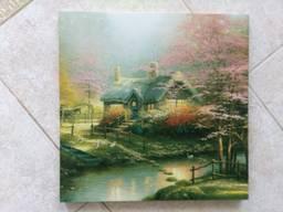 Картина репродукция Домик у пруда