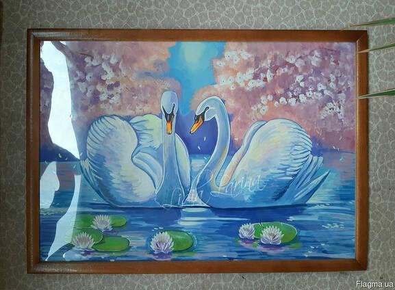 Картина в рамке 45х63 Гуашь