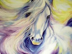 Картины на холсте лошадь панно фото на холсте Конь Horse 150 см х 100 см