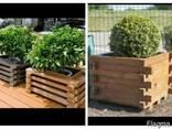 Кашпо деревянное для растений - фото 3