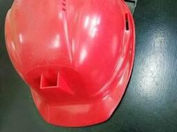 Каска шахтёрская белая, красная