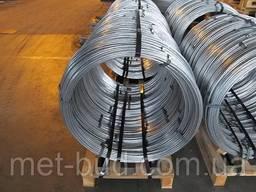 Катанка (проволока) стальная оцинкованная толщина 6 мм