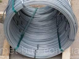 Катанка (проволока) стальная оцинкованная толщина 10 мм