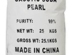 Каустическая сода гранулированная 99% Китай мешок 25 кг
