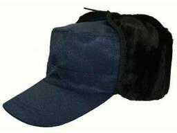 Кепка Альфа утепленная синяя. ткань оксфорд, мужская