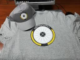 Кепка футболка серый цвет нанесение логотипов