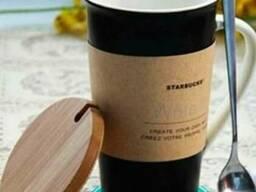 Керамическая чашка Starbucks Memo (с ложкой и маркером)