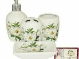 """Керамический набор для ванной комнаты """"Магнолия"""""""