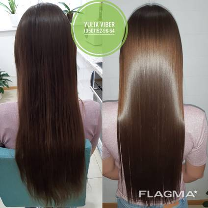 Кератиновое выпрямление , ботокс волос Киев Ирпень