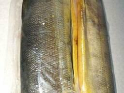 Кета рыба холодного копчения тушка без головы потрошеная