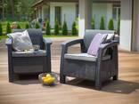 Keter Corfu Duo Set мебель из искусственного ротанга - фото 1