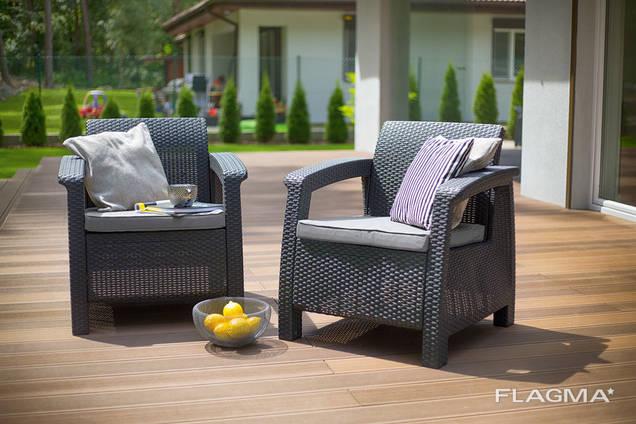 Keter Corfu Duo Set мебель из искусственного ротанга