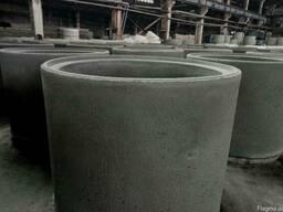 Кільця бетонні КС, плита перекриття кілець ПП, днища для кілець ПН