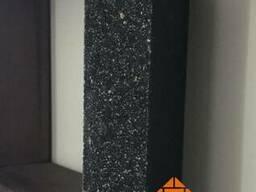 Кирпич облицовочный мрамор ложок 250x110x65 мм черный