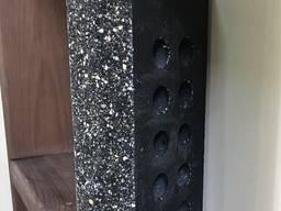 Кирпич облицовочный пустотелый Эко-Брик скала тычок черный