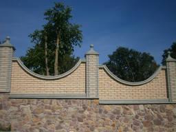 Кирпич облицовочный, рваный на забор, камин