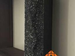 Кирпич облицовочный скала ложок 250x100x65 мм черный