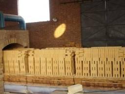 Кирпич огнеупорный шамотный ША 6 лещадка (узкий), 230х114х40мм.