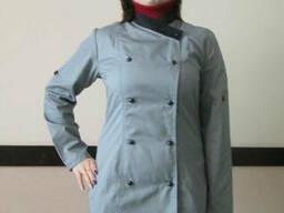 Китель повара женский серый пошив кителей для поваров