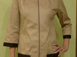 Поварской костюм женский бежевый