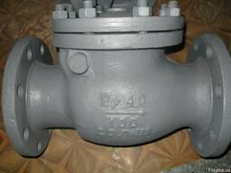 Клапан обр поворотный стальной фланц ду100ру40