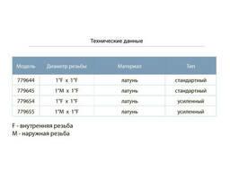 """Клапан обратный (усиленный) 1""""M×1""""F (латунь) euro Aquatica (779655)"""