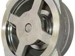 Клапан обратный межфланцевый из н/ж стали, пружинный, Ру=40