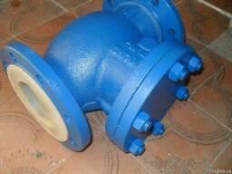 Клапан обратный поворотный стальной фланц19c53нж ду100ру16 - фото 2
