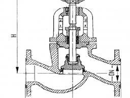 Клапан запорный фланцевый проходной сальниковый 521-35. 3382