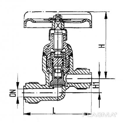 Клапан запорный штуцерный проходной 521-01.470-01