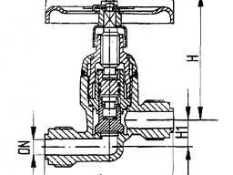 Клапан запорный штуцерный проходной 521-01. 470-01