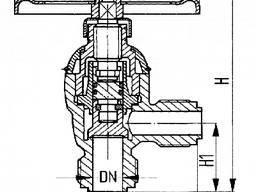 Клапан запорный штуцерный угловой 521-01. 463-03