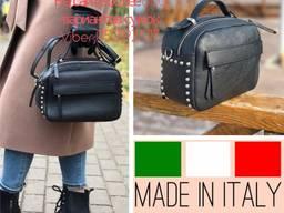 Клатч Кросс боди Италия , кожаные сумки женские Итальянские