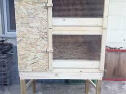 Клетка для кроликов на 2 секции