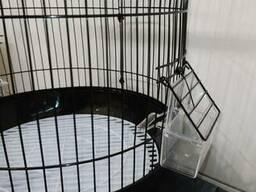 Клетка для птиц А309D Высокая Чёрная