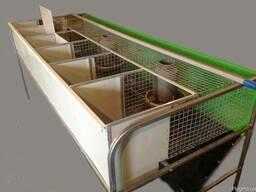Клетка кролик пристеночная одноярусная, маточно-откормочная